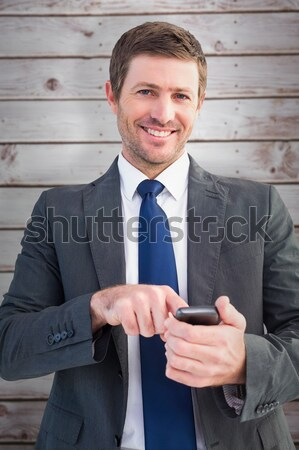 Сток-фото: бизнесмен · белый · человека · счастливым