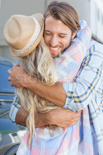 Cute couple standing and hugging  Stock photo © wavebreak_media