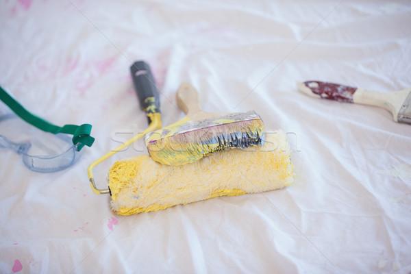 Painting tools on the floor Stock photo © wavebreak_media