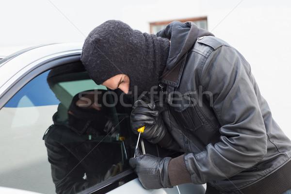 Voleur voiture porte fenêtre Homme assurance Photo stock © wavebreak_media