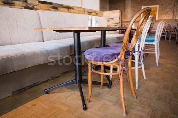 Stijlvol coffeeshop stoelen bakkerij business restaurant Stockfoto © wavebreak_media