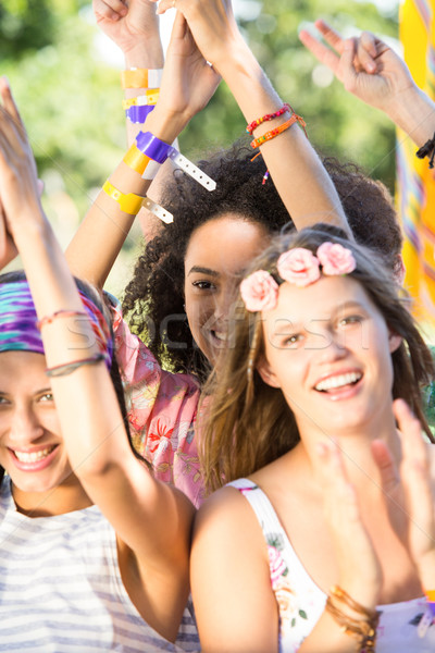 возбужденный музыку вентиляторы фестиваля женщину вечеринка Сток-фото © wavebreak_media
