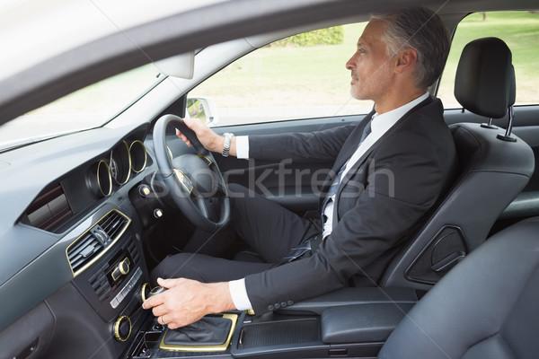 красивый бизнесмен сиденье автомобилей человека окна Сток-фото © wavebreak_media