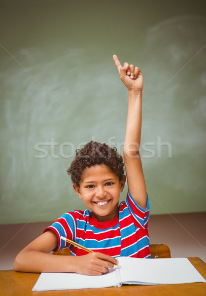 少年 手 教室 肖像 かわいい ストックフォト © wavebreak_media