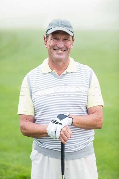 гольфист улыбаясь камеры клуба Сток-фото © wavebreak_media