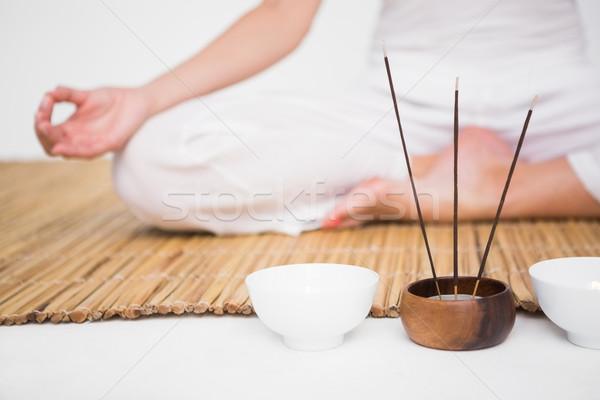 соответствовать женщину бамбук фитнес здоровья Сток-фото © wavebreak_media