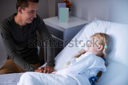 Mother and daughter not talking after argument Stock photo © wavebreak_media