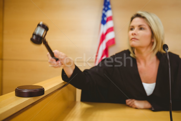 Giudice botto martelletto giudice stanza donna Foto d'archivio © wavebreak_media