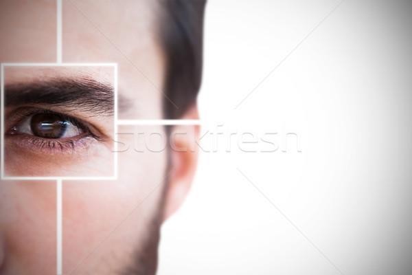 Közelkép fókuszált üzletember fehér üzlet férfi Stock fotó © wavebreak_media