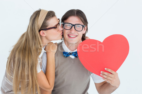 Sonriendo compañera blanco hombre feliz Foto stock © wavebreak_media