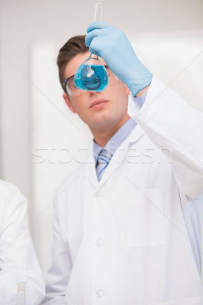 科学 見える ビーカー 青 流体 室 ストックフォト © wavebreak_media