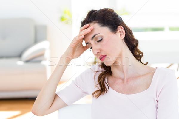 Morena dolor de cabeza blanco mujer casa salud Foto stock © wavebreak_media