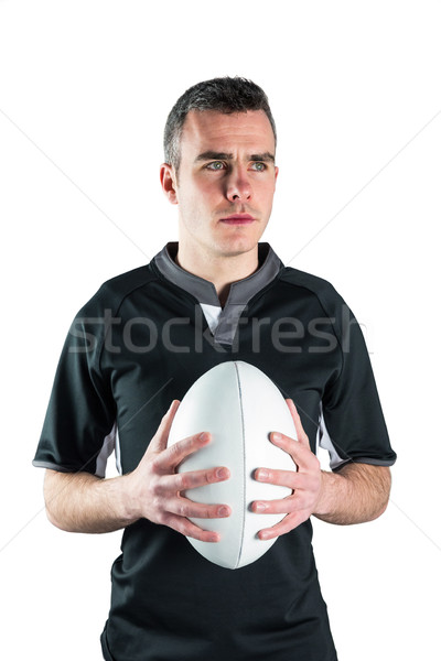 Rugby jugador pelota de rugby blanco deporte Foto stock © wavebreak_media