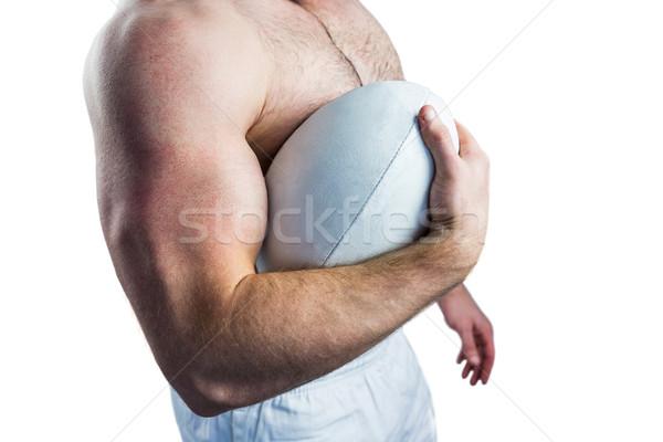 A torso nudo rugby giocatore palla bianco Foto d'archivio © wavebreak_media