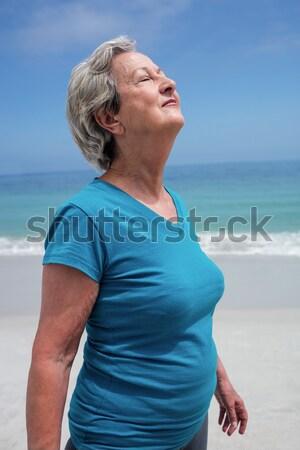 Portret vrolijk senior vrouw permanente heldere hemel Stockfoto © wavebreak_media