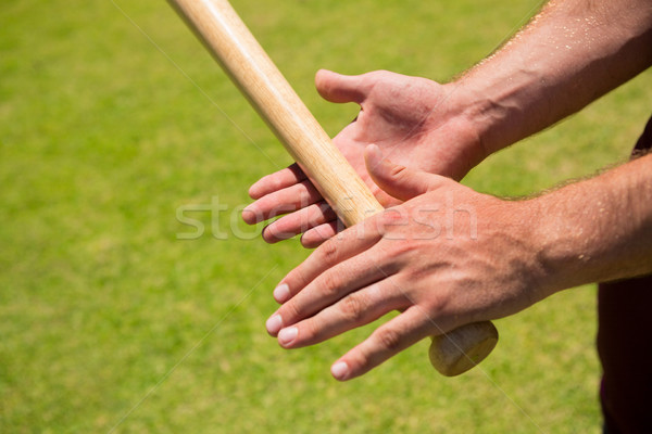 Cropped hands of player holding baseball bat Stock photo © wavebreak_media
