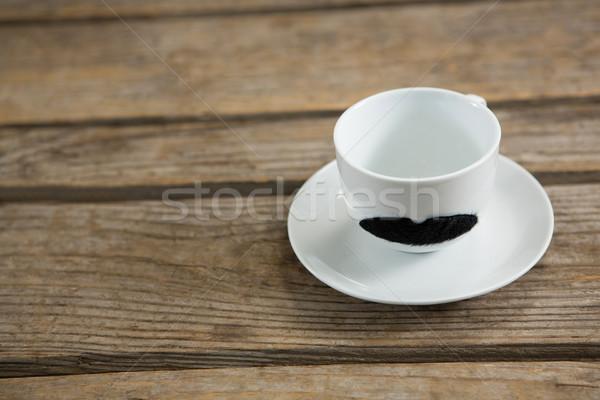 Close up of mustache on cup Stock photo © wavebreak_media