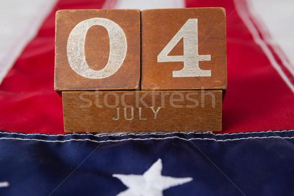 Data blokken Amerikaanse vlag datum Stockfoto © wavebreak_media