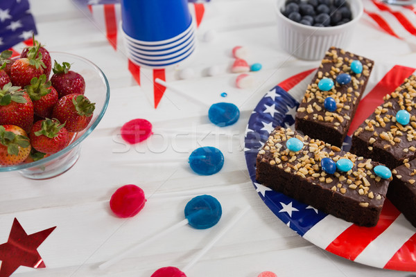 Stock photo: Sweet food decorated with 4th july theme