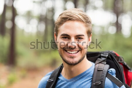 Portret jonge knap wandelaar natuur man Stockfoto © wavebreak_media