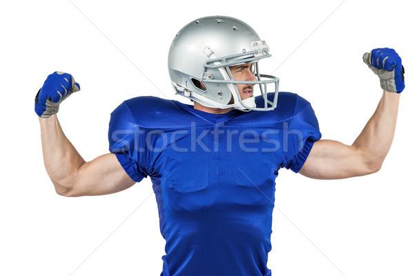 Americano futbolista músculos blanco hombre deporte Foto stock © wavebreak_media
