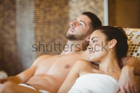 幸せ カップル 一緒に スパ 顔 ストックフォト © wavebreak_media