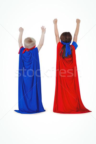Masked kids pretending to be superheroes Stock photo © wavebreak_media