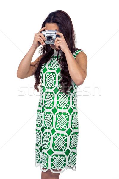 азиатских женщину фотография цифровая камера белый Сток-фото © wavebreak_media