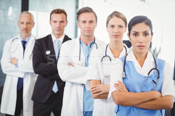 Medical team standing with arms crossed Stock photo © wavebreak_media