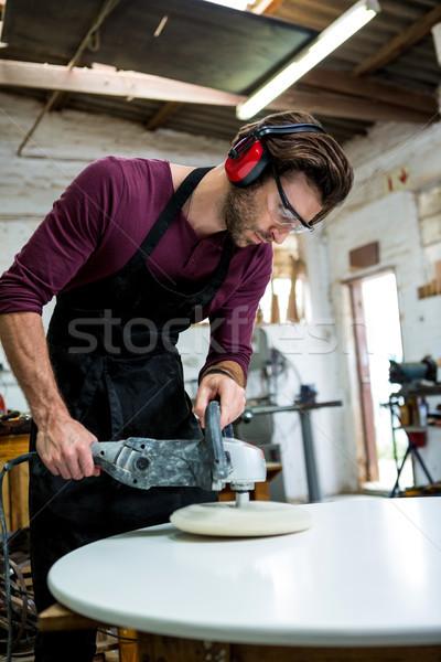 плотник рабочих пыльный семинар человека работник Сток-фото © wavebreak_media