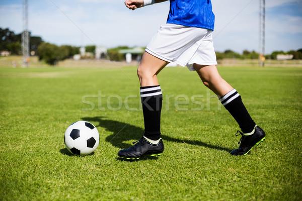 Homme football stade femme Photo stock © wavebreak_media