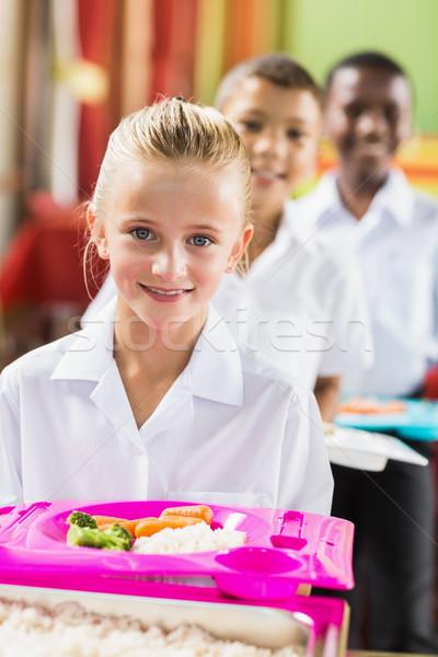 Retrato aluna almoço quebrar tempo escolas Foto stock © wavebreak_media
