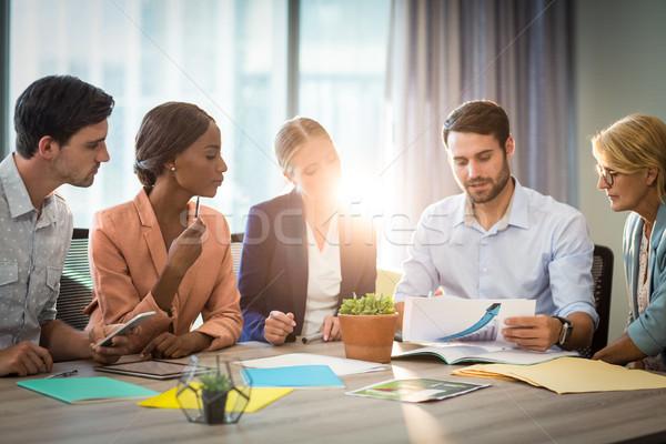Groupe gens d'affaires bureau bureau homme Photo stock © wavebreak_media