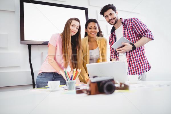 портрет Creative служба счастливым молодые бизнеса Сток-фото © wavebreak_media