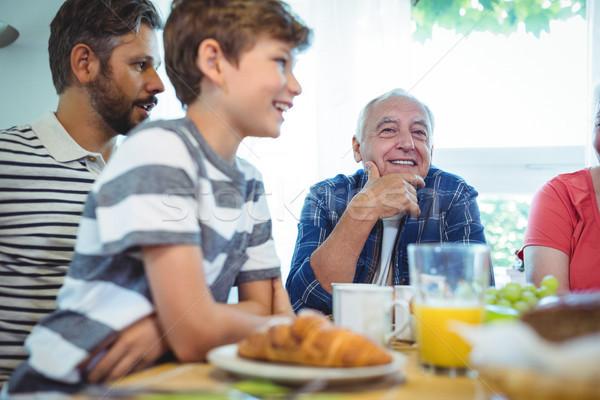 Multi-generation family sitting at breakfast table Stock photo © wavebreak_media