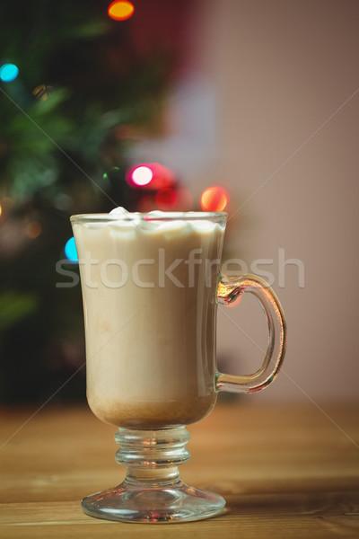 Fincan kahve hatmi ahşap masa Noel zaman Stok fotoğraf © wavebreak_media