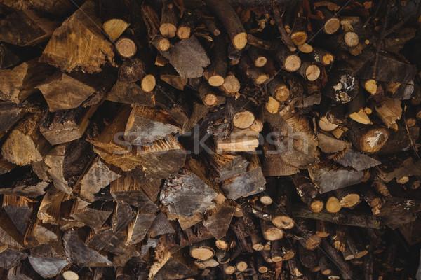Bois de chauffage bois heureux maison Photo stock © wavebreak_media