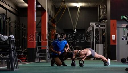 Fatigué boxeur boxe anneau portrait Photo stock © wavebreak_media