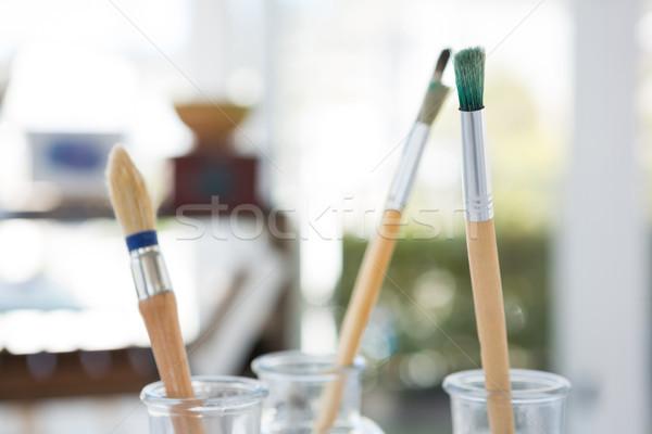 Pinceles vidrio jar amor educación verde Foto stock © wavebreak_media