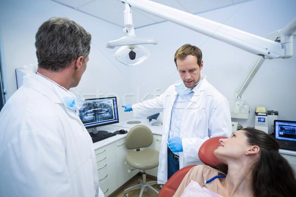 Xray zęby kobiet pacjenta Zdjęcia stock © wavebreak_media