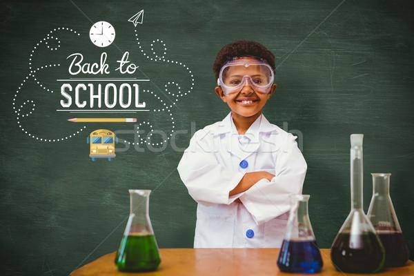 Composite image of cute pupil dressed up as scientist Stock photo © wavebreak_media