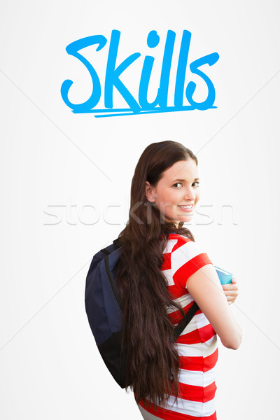 Umiejętności biały kobieta szczęśliwy student portret Zdjęcia stock © wavebreak_media