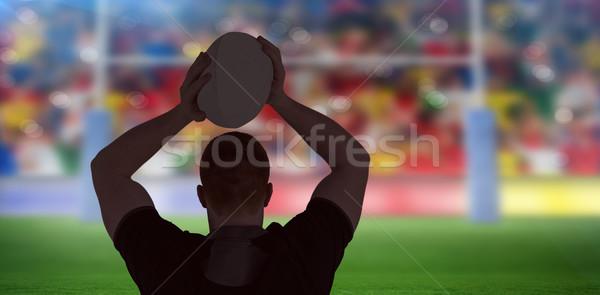 изображение регби игрок мяч для регби стадион Сток-фото © wavebreak_media