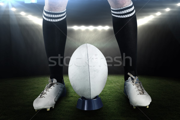 Composite image of low section of sportsman playing rugby Stock photo © wavebreak_media