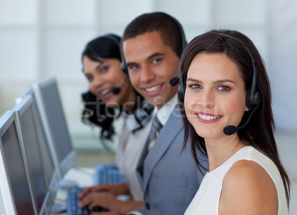 Businesswoman working in a call canter  Stock photo © wavebreak_media