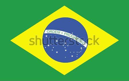 Vlag teken land grafische Brazilië illustratie Stockfoto © wavebreak_media