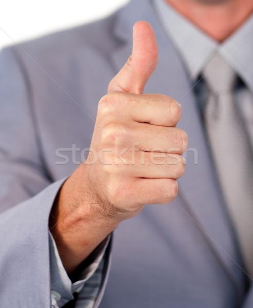 бизнесмен большой палец руки вверх белый бизнеса Сток-фото © wavebreak_media