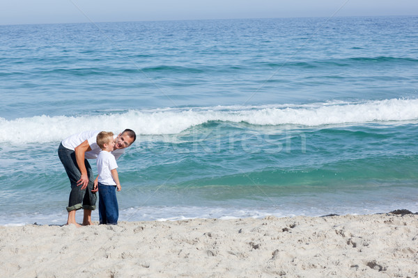 Caring Father and his son having fun Stock photo © wavebreak_media