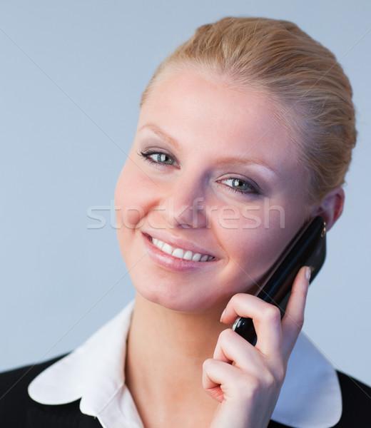 üzletasszony telefon fiatal vonzó üzlet iroda Stock fotó © wavebreak_media