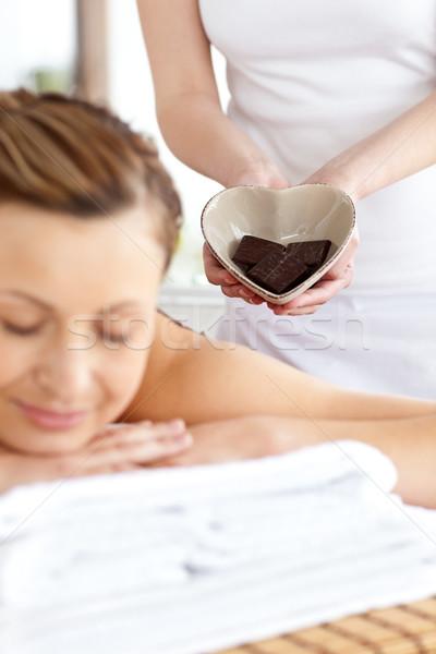 Parlak kadın masaj tablo spa Stok fotoğraf © wavebreak_media
